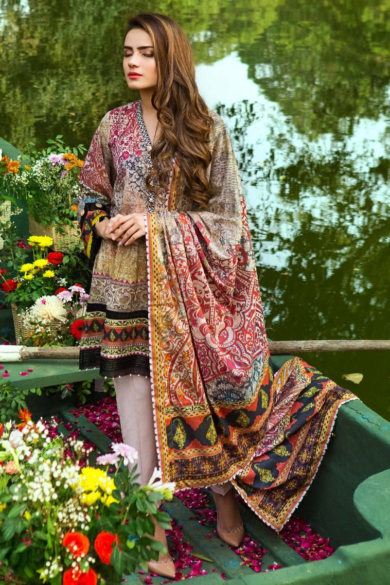 8b8e472f70 3 Piece Grey Ready to wear Pakistani Dress is available online at a  discounted sale price