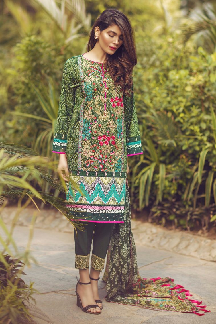 f181259ff5 Exclusive 3 Piece Embroidered Chiffon Pakistani Ready to Wear Dress online  by Alkaram Studio Festival Spring