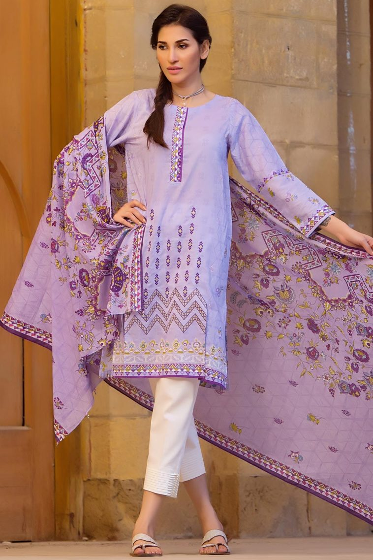706daad73b Buy online Zeen Cambridge 3 piece Ready to Wear Pret Wear 'Dutch Cottage'  Violet