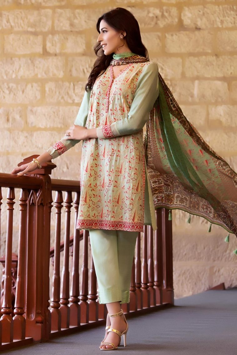 1c9f3b5272 Classy 3 piece semi formally luxury luxe Zeen Cambridge Green Lily  Pakistani Dress for Sale this