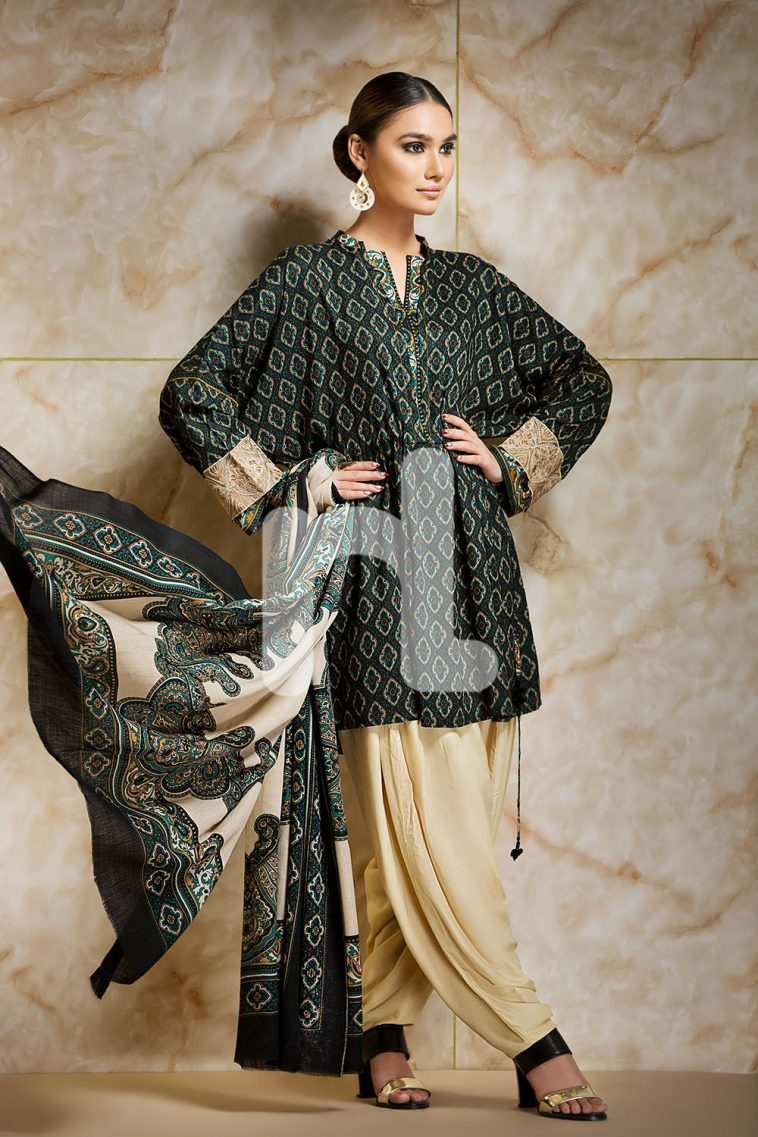 cd671aa7c4b5 Embroidered Unstitched 3 Piece Pakistani Linen Dress On A Discount Price  For Shopping Online By Nishat