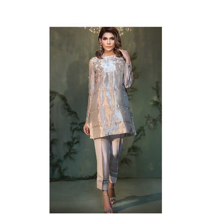 8910fe2c77 Rosegold Color 2 Piece Tissue Pakistani Pret Wear Available Online For Free Online  Shopping By Native