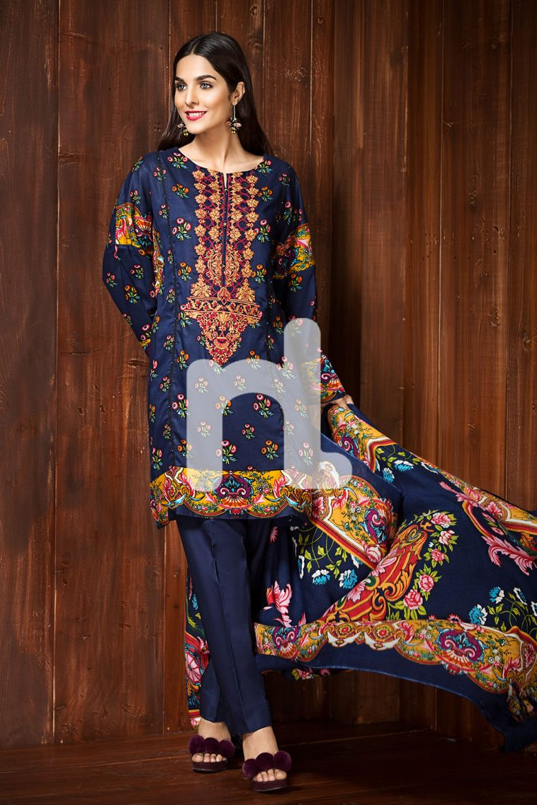 866aeaeaddc Unstitched 3 Piece Pakistani linen Dress On Sale To Buy Online By nishat  linen Winter Collection