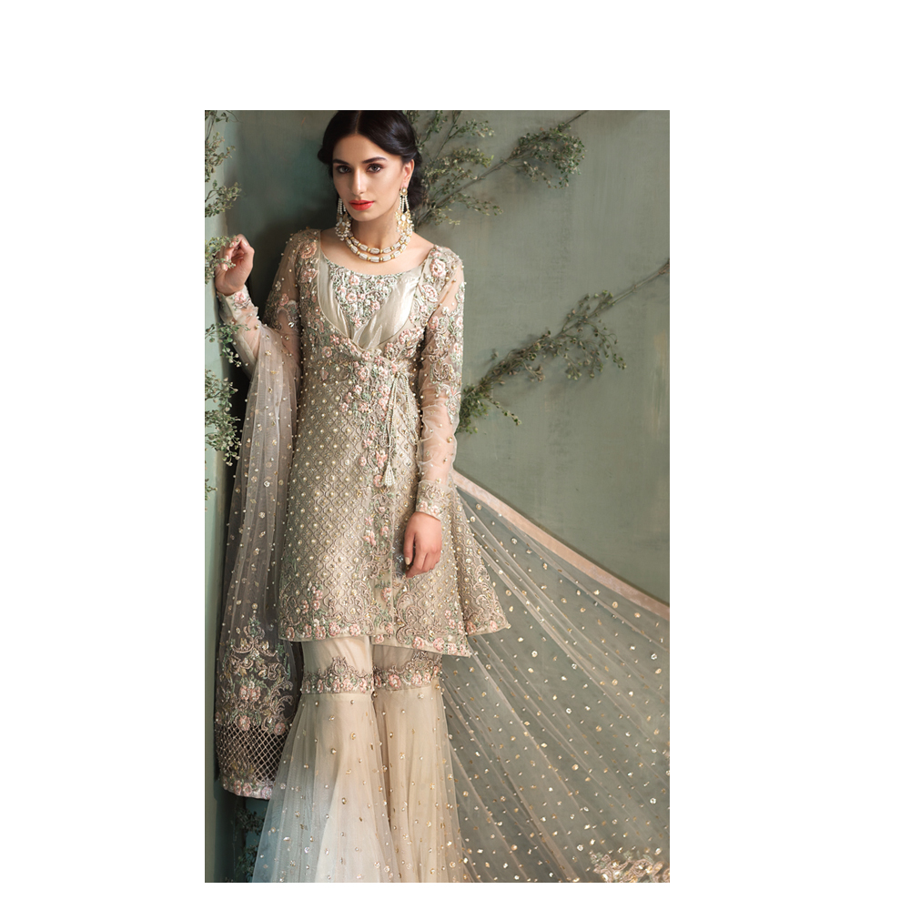 a503cde159b7 Pk Formal And Bridal Wear Collection 2019 ZEPHYR Pakistani Ready To Wear  Pret Dresses Online Designer Bridal Dress In Grey Buy Online By