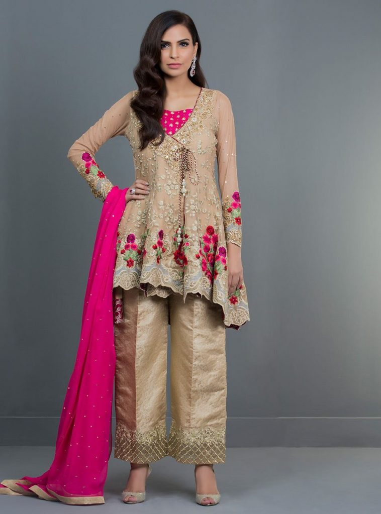 a105eda3e0c4 Stunning beige color 3 piece pret wear dress by Zainab Chottani party wear collection  2019