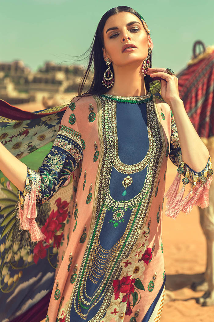 6cc7635535 Buy Embroidered Unstitched Silk Suit by Elan Winter Collection ...