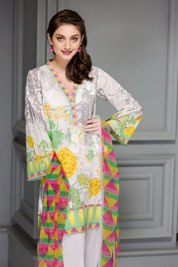 f7a2c3998e Uber chic grey unstitched pret 2 piece dress by Nishat Linen 2 piece summer  collection 2019