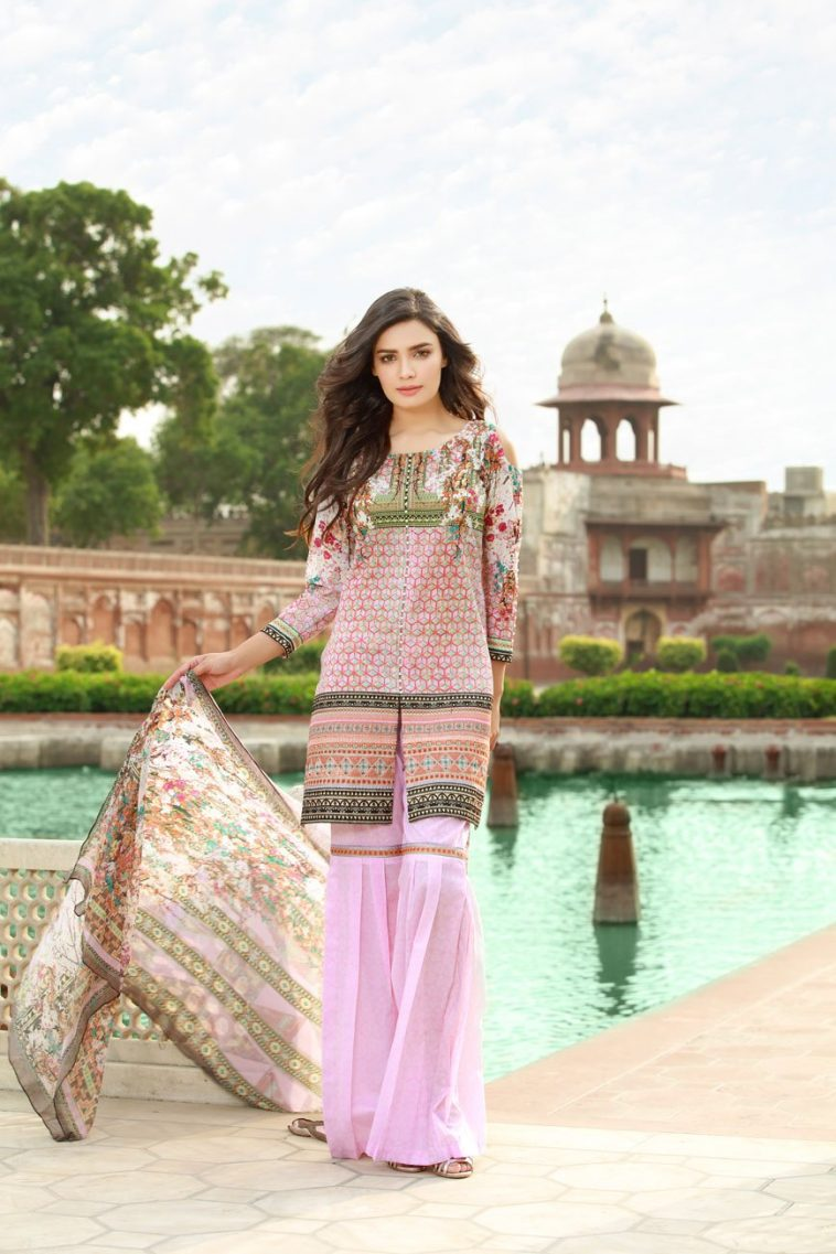 6aa243680c Unstitched Embroidered Suit for Women by Saroni Lawn Collection 2019