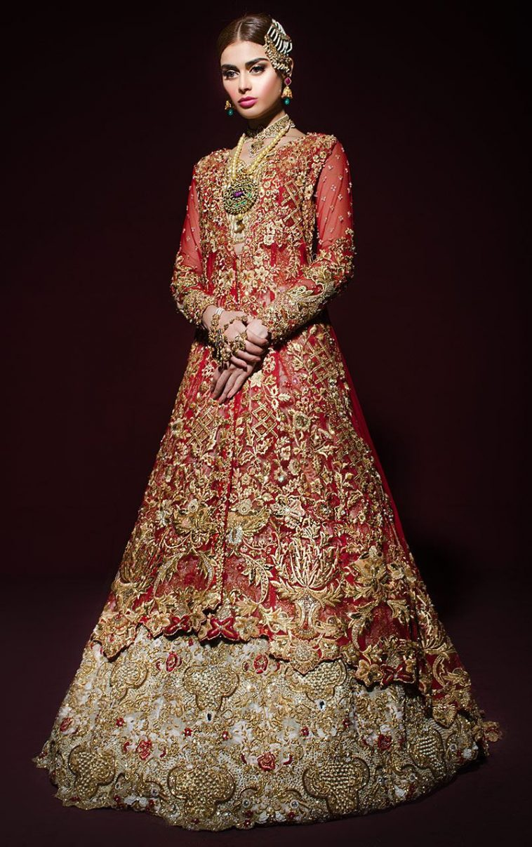 Beautiful Red Desi Pakistani Dress By Pakistani Bridal Fashion Designer Online Shopping In Pakistan