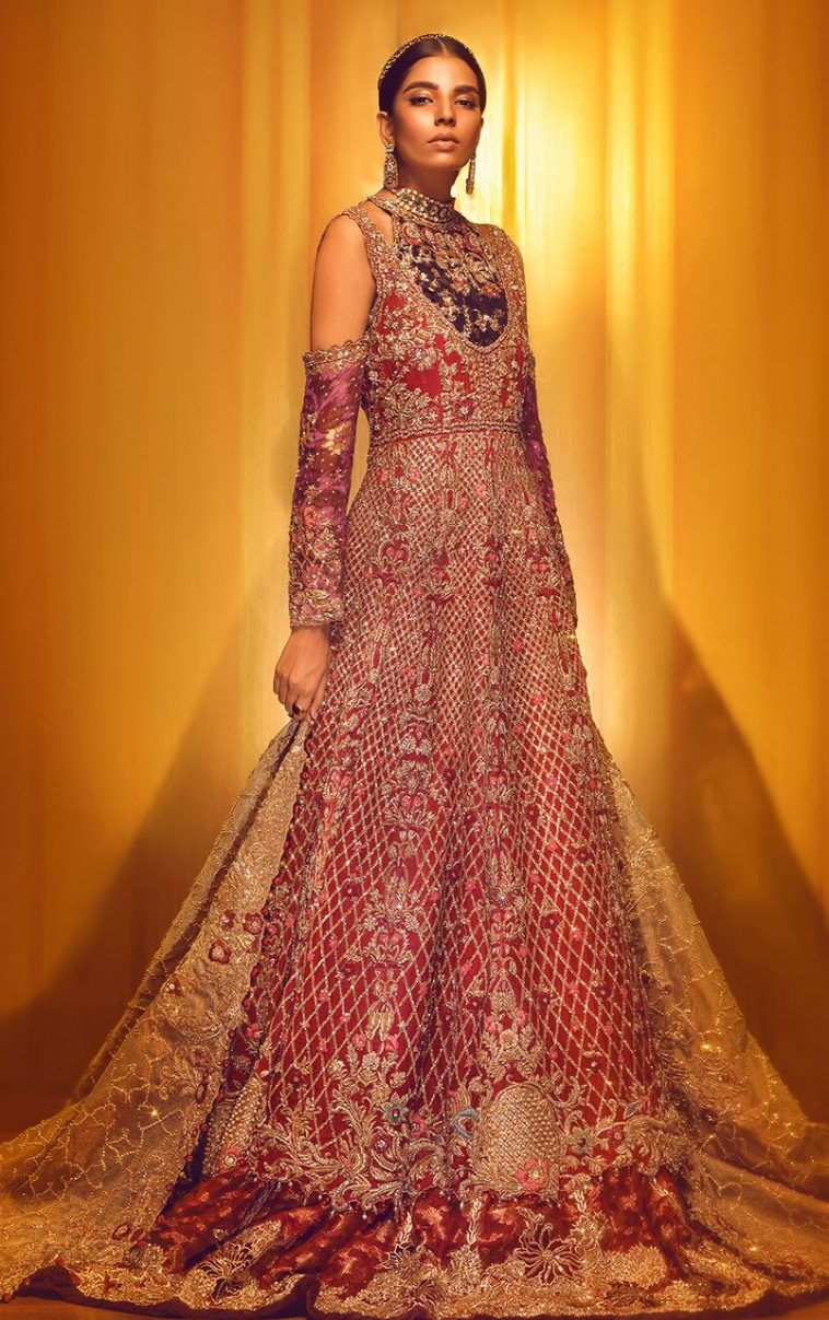 ea6ec38633 Buy this beautiful hand worked anarkali Pakistani bridal dress by Tena  Durrani bridal collection