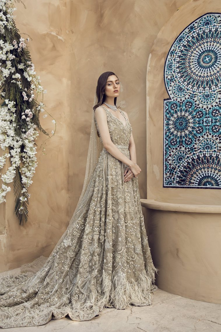 9d9c759cc5 Buy this elegant Pakistani wedding dress by Pakistani fashion designers at  a decent price