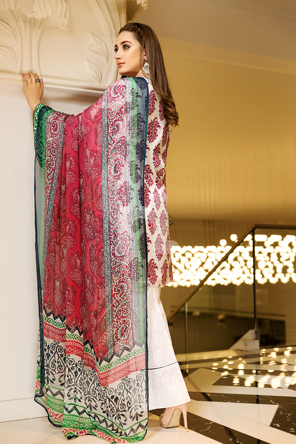 ab869cfb6b Get this ravishing Printed Pakistani unstitched dress at a best price by Nishat  Linen casual prets