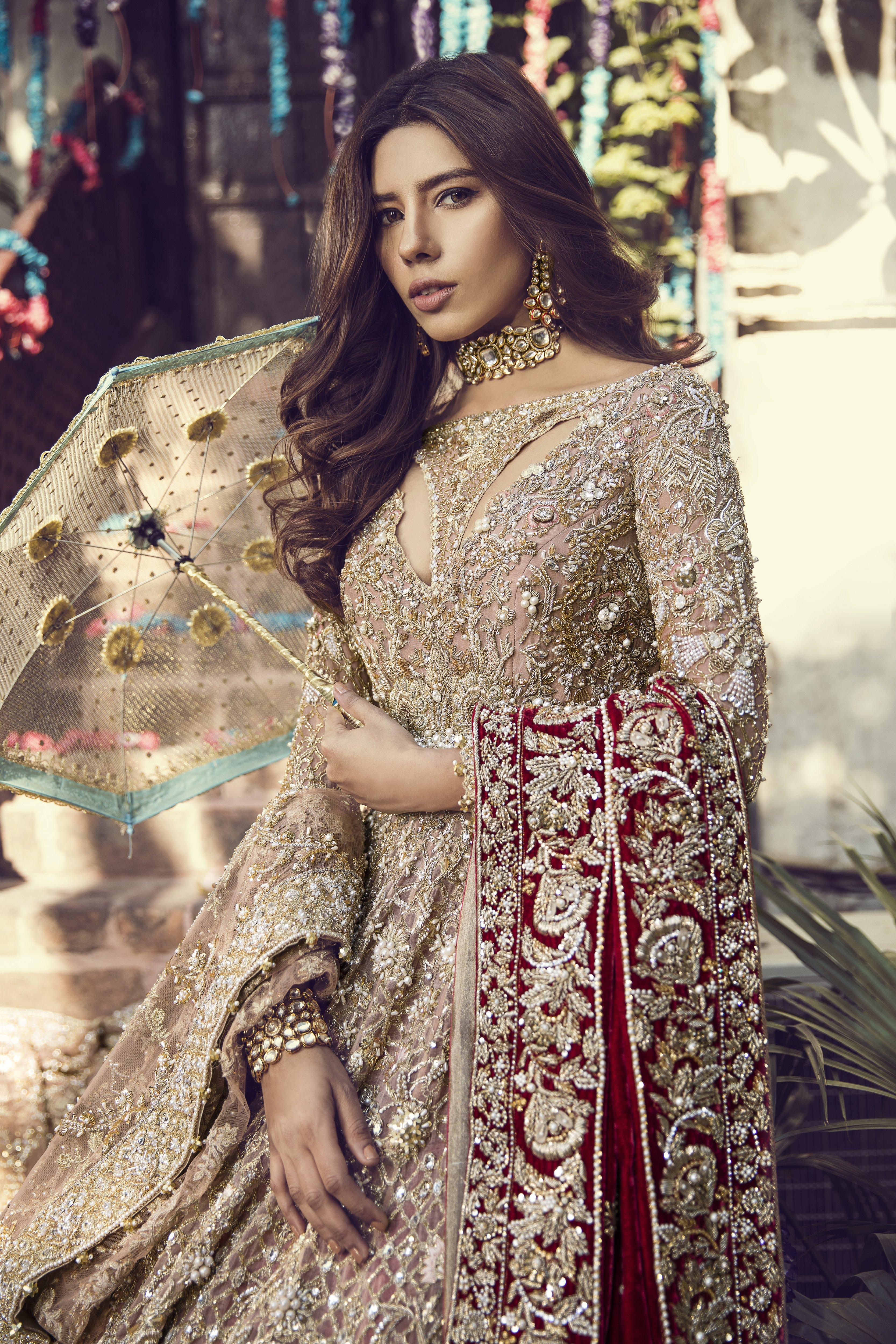 Beautiful Heavily Embroidered Pink Pakistani Bridal Dress By Suffuse By Sana Yasir Online Shopping In Pakistan