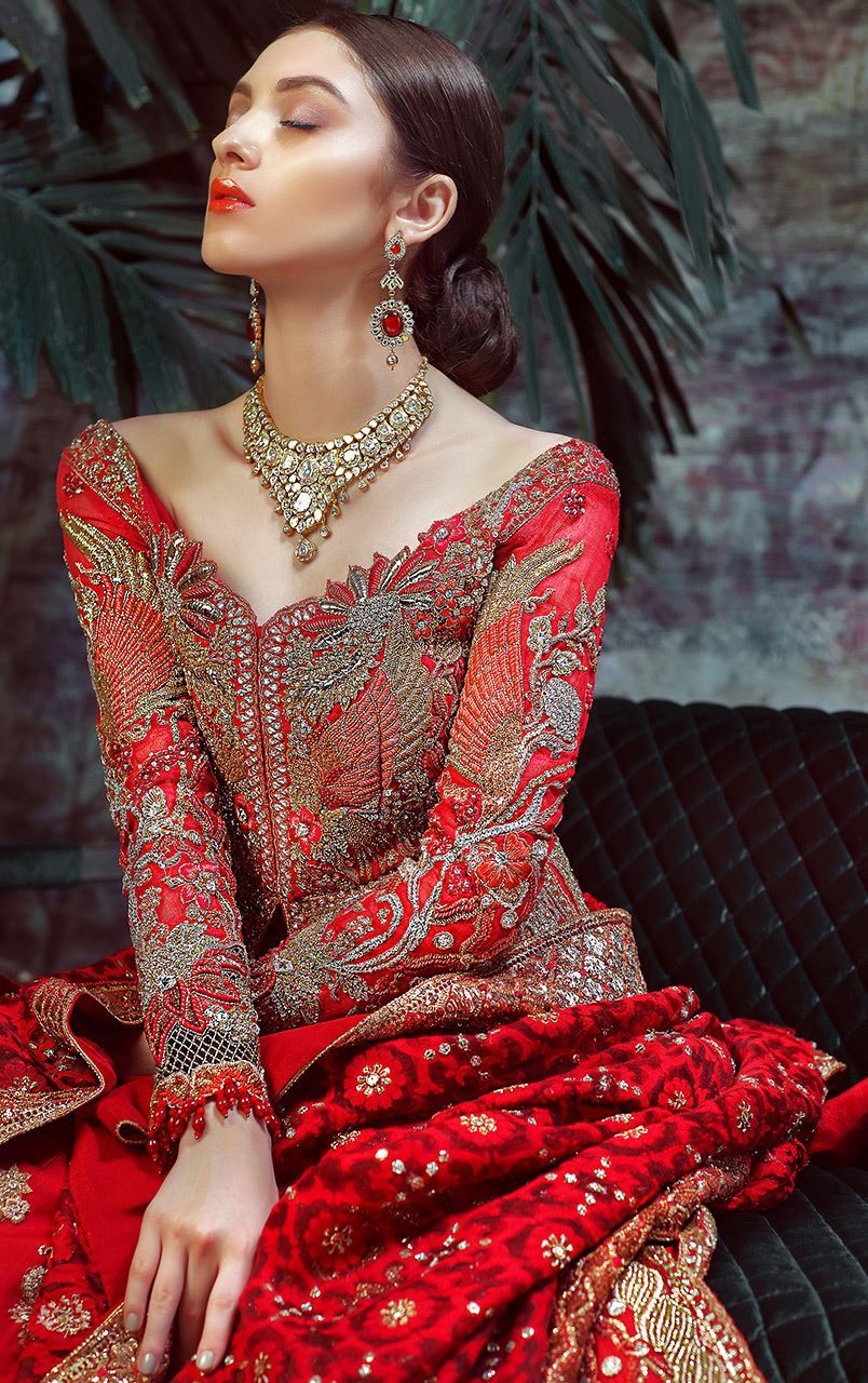 Tradition Red Designer Bridal Dress By Pakistani Wedding Dresses Online Online Shopping In Pakistan
