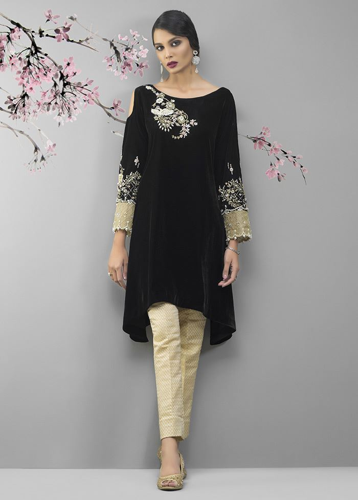 3c8ece844e This elegant stitched velvet embroidered dress available at a decent price  at online stores stores by