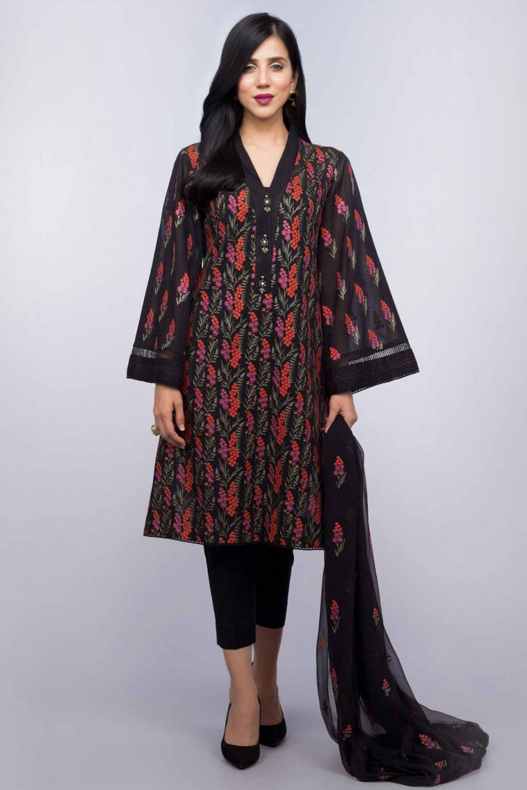 Buy Online At Annie S Annuals: Buy Online Unstitched Black Pakistani Dress At Bareeze