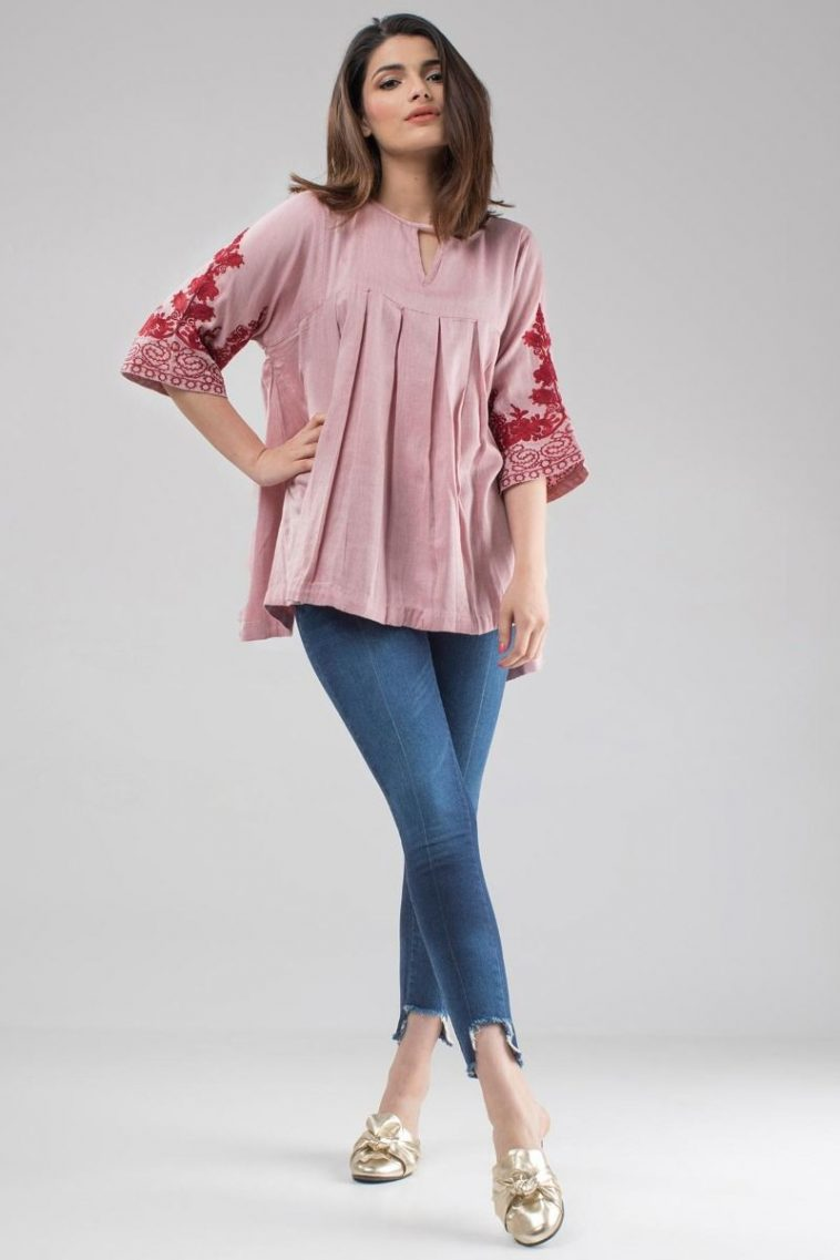 b179f65e1a60 Khaadi Ready to Wear Western Pleated Top for Women - Online Shopping ...