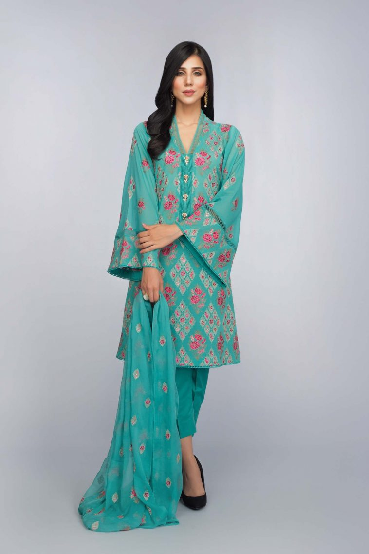 fcaa8060c6 Buy Online Unstitched Lawn Suit at Bareeze Clearance Sale 2018 ...