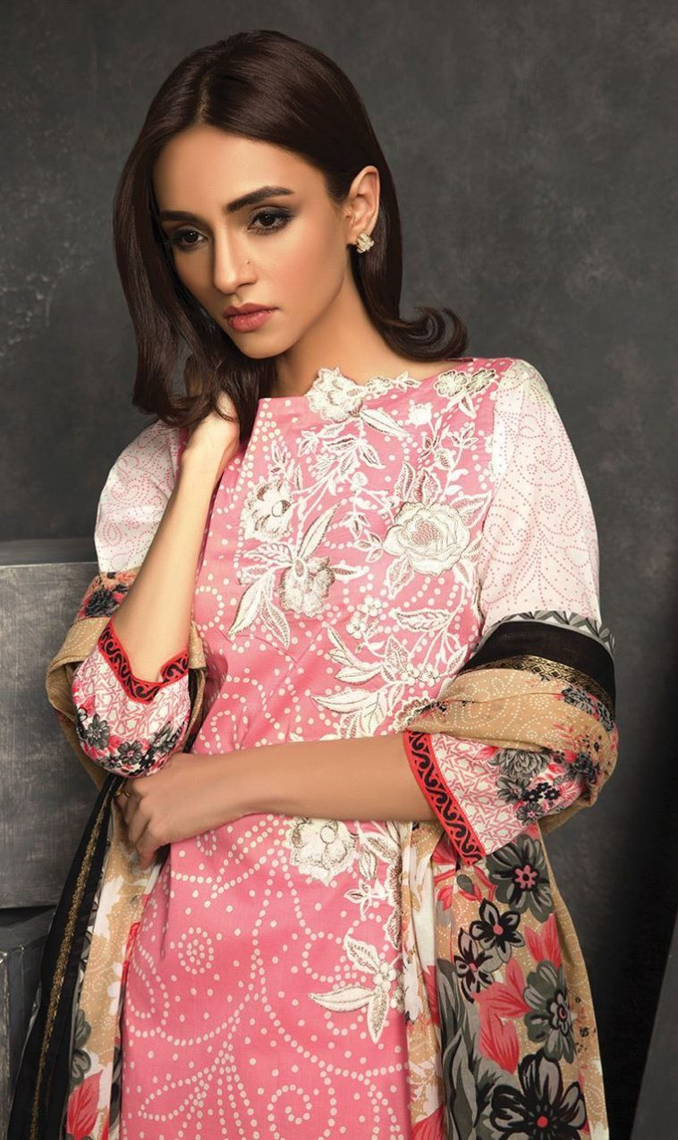 ab9e7b9392c Buy this lawn pret wear unstitched dress at a best price of available for  online shopping