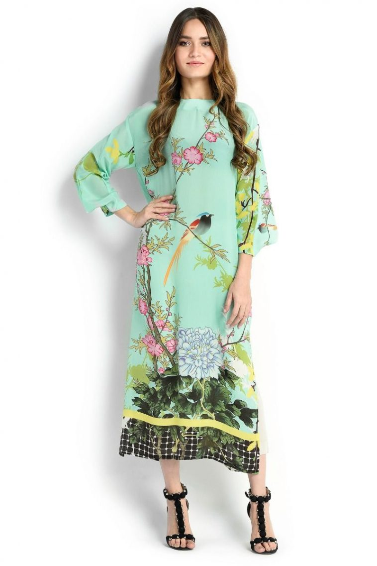 70f27a7bb4 Refreshing green shirt by Sana Safinaz spring western collection 2018