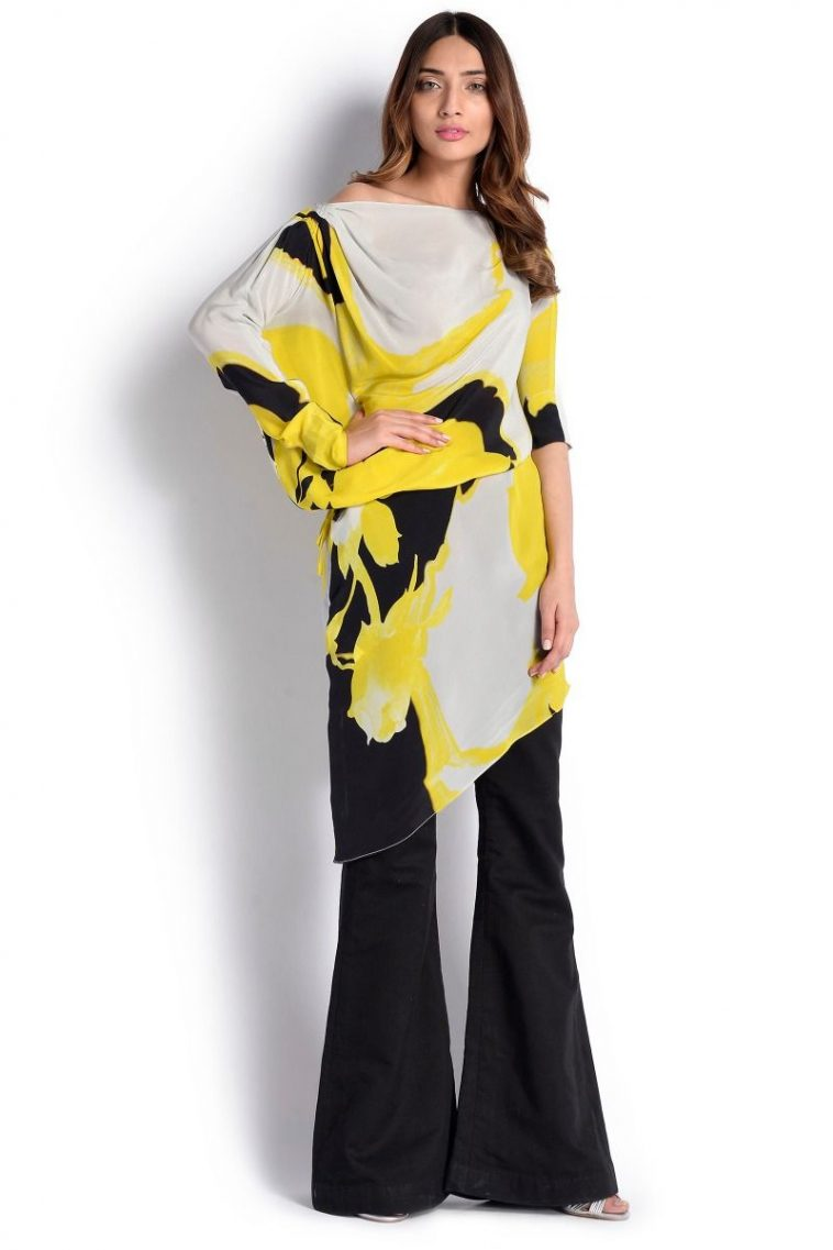 f59c185d7d Trendy and uber chic yellow colo yellow ready to wear pret shirt by Sana  Safinaz ready