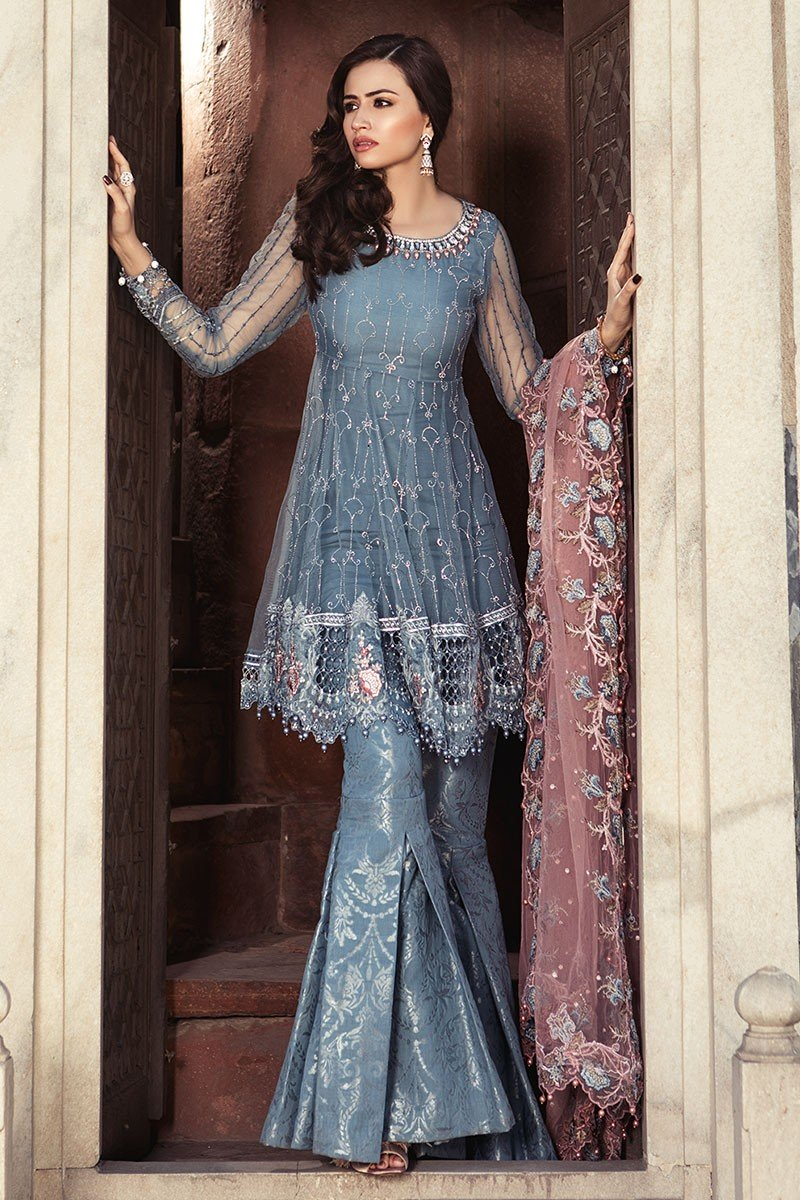 8d876ee806c Maria B Eid Collection features Ready to Wear Full Embroidered Formal  Pakistani Dress