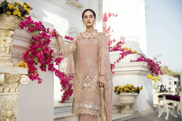 46b2a2e66cb1c Buy this beautiful embroidered stitched chiffon dress available at a decent  price