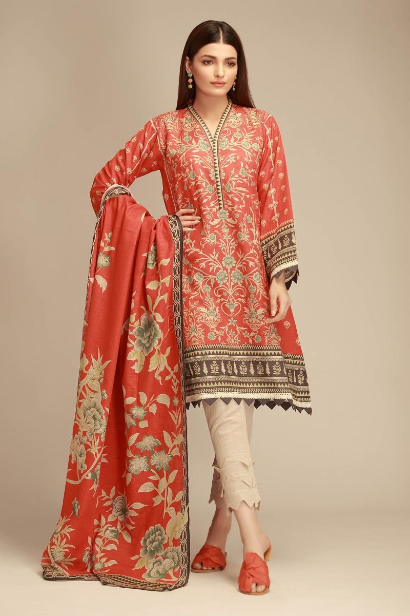 a31ab977445 24 Best Khaadi Winter Collection 2018 Suits - Online Shopping in ...